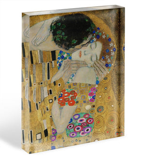 The Kiss detail by Klimt Acrylic Block - Canvas Art Rocks - 1