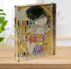 The Kiss detail by Klimt Acrylic Block - Canvas Art Rocks - 2