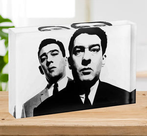The Kray Twins Acrylic Block - Canvas Art Rocks - 2