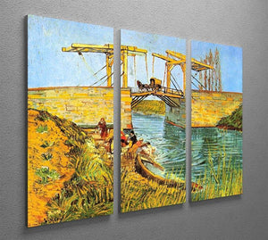 The Langlois Bridge at Arles by Van Gogh 3 Split Panel Canvas Print - Canvas Art Rocks - 4