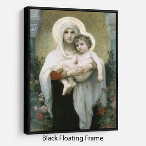 The Madonna of the Roses By Bouguereau Floating Frame Canvas