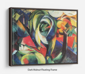 The Mandrill by Franz Marc Floating Frame Canvas