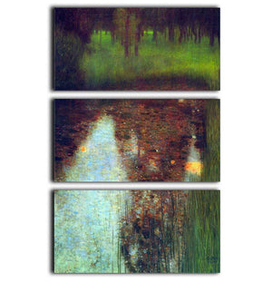 The Marsh by Klimt 3 Split Panel Canvas Print - Canvas Art Rocks - 1
