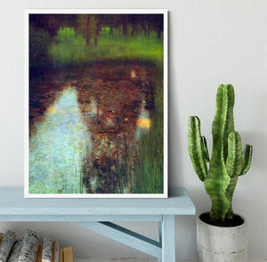 The Marsh by Klimt Framed Print - Canvas Art Rocks -6