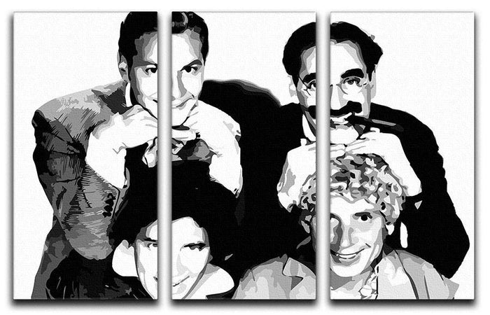 The Marx Brothers 3 Split Panel Canvas Print