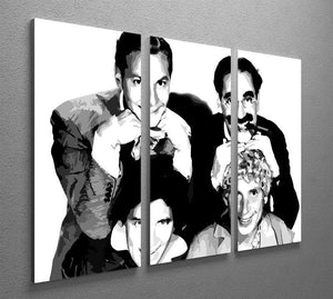 The Marx Brothers 3 Split Panel Canvas Print - Canvas Art Rocks - 4