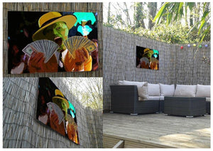 The Mask Outdoor Metal Print - Canvas Art Rocks - 2