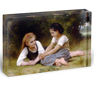 The Nut Gatherers By Bouguereau Acrylic Block - Canvas Art Rocks - 1