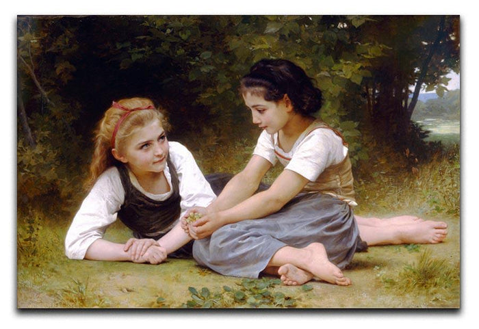 The Nut Gatherers By Bouguereau Canvas Print or Poster