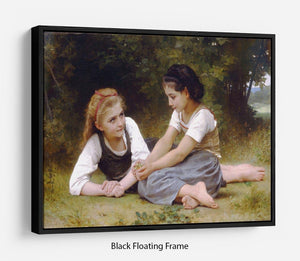 The Nut Gatherers By Bouguereau Floating Frame Canvas