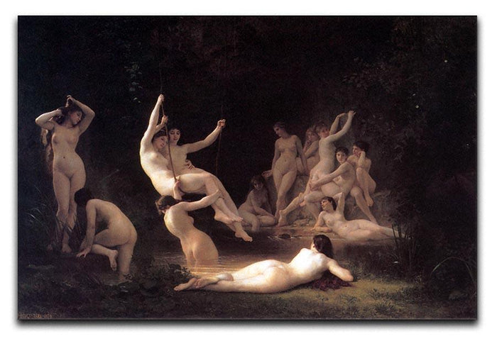The Nymphaeum By Bouguereau Canvas Print or Poster