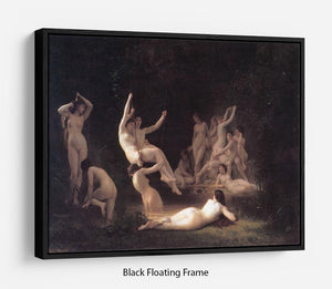 The Nymphaeum By Bouguereau Floating Frame Canvas