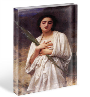 The Palm Leaf By Bouguereau Acrylic Block - Canvas Art Rocks - 1