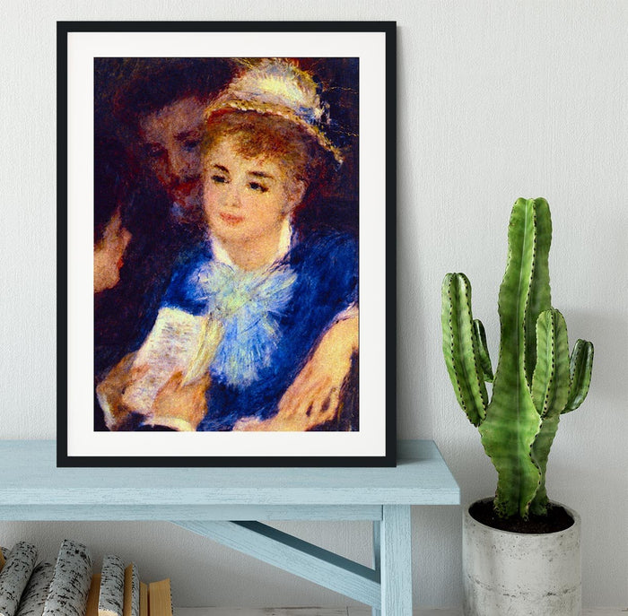 The Perusal of the Part by Renoir Framed Print