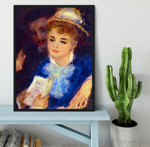 The Perusal of the Part by Renoir Framed Print - Canvas Art Rocks - 2