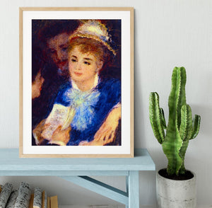 The Perusal of the Part by Renoir Framed Print - Canvas Art Rocks - 3