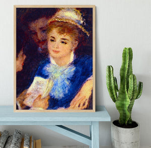 The Perusal of the Part by Renoir Framed Print - Canvas Art Rocks - 4