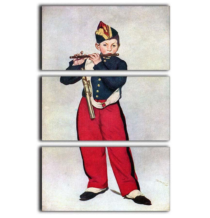 The Piper by Manet 3 Split Panel Canvas Print