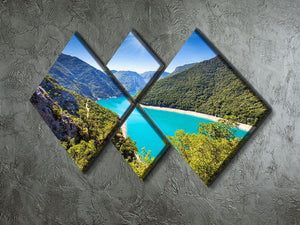 The Piva Canyon 4 Square Multi Panel Canvas  - Canvas Art Rocks - 2