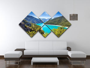 The Piva Canyon 4 Square Multi Panel Canvas  - Canvas Art Rocks - 3