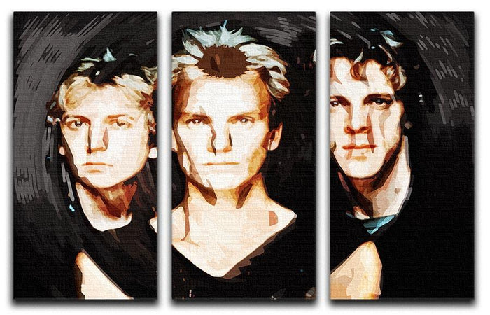 The Police 3 Split Panel Canvas Print