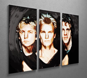 The Police 3 Split Panel Canvas Print - Canvas Art Rocks - 2