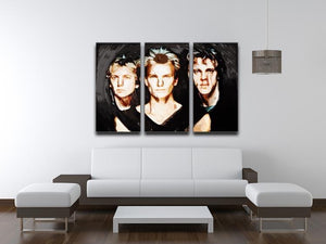 The Police 3 Split Panel Canvas Print - Canvas Art Rocks - 3