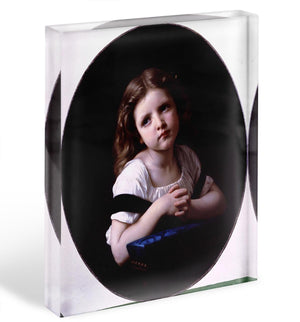 The Prayer By Bouguereau Acrylic Block - Canvas Art Rocks - 1