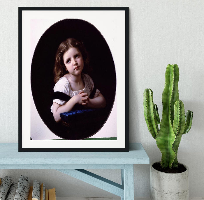 The Prayer By Bouguereau Framed Print