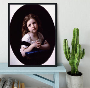 The Prayer By Bouguereau Framed Print - Canvas Art Rocks - 2