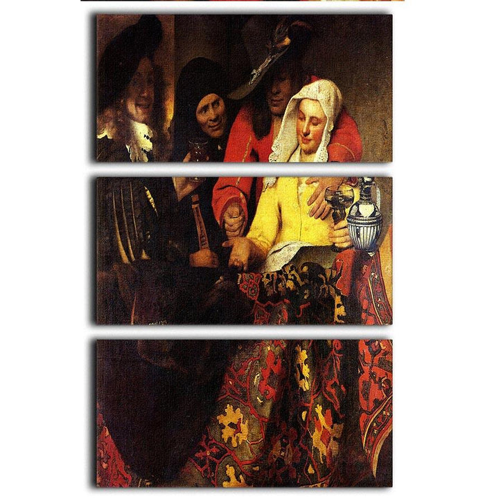 The Procuress by Vermeer 3 Split Panel Canvas Print