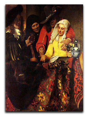 The Procuress by Vermeer Canvas Print or Poster - Canvas Art Rocks - 1