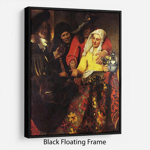 The Procuress by Vermeer Floating Frame Canvas - Canvas Art Rocks - 1