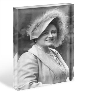 The Queen Mother at Lord Roberts Memorial Workshops in Dundee Acrylic Block - Canvas Art Rocks - 1