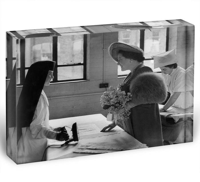 The Queen Mother at a training college Acrylic Block