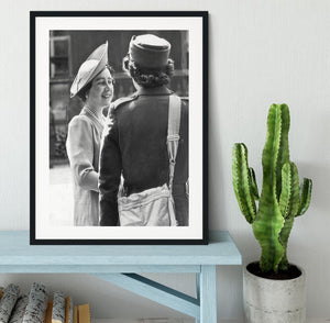 The Queen Mother inspecting WW2 service members Framed Print - Canvas Art Rocks - 1