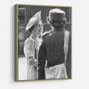 The Queen Mother inspecting WW2 service members HD Metal Print