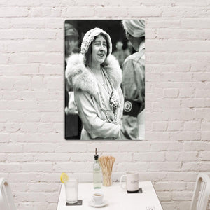 The Queen Mother opening a new hospital extension HD Metal Print