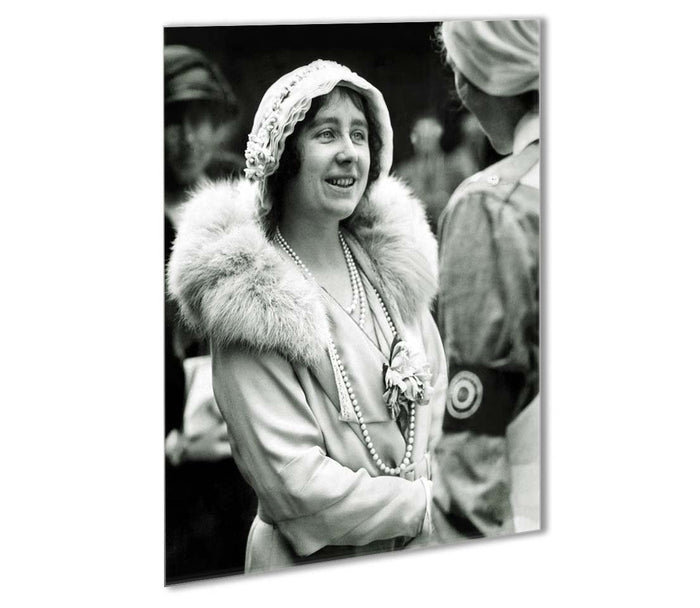 The Queen Mother opening a new hospital extension Outdoor Metal Print