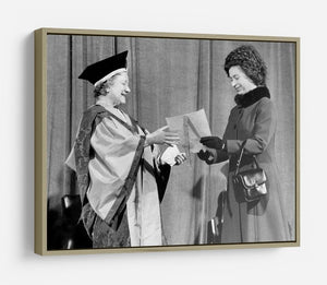 The Queen Mother receiving Honorary Doctorate by the Queen HD Metal Print