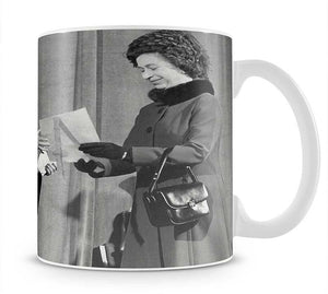 The Queen Mother receiving Honorary Doctorate by the Queen Mug - Canvas Art Rocks - 1