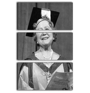The Queen Mother with her honorary music degree 3 Split Panel Canvas Print - Canvas Art Rocks - 1