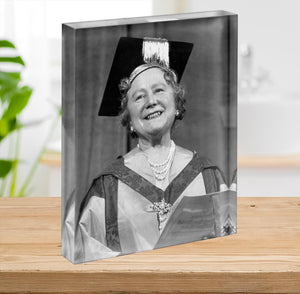 The Queen Mother with her honorary music degree Acrylic Block - Canvas Art Rocks - 2