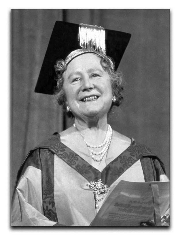 The Queen Mother with her honorary music degree Canvas Print or Poster