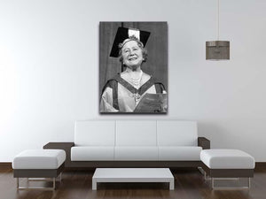 The Queen Mother with her honorary music degree Canvas Print or Poster - Canvas Art Rocks - 4