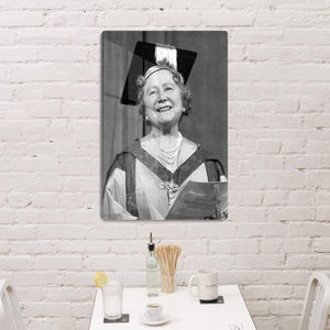 The Queen Mother with her honorary music degree HD Metal Print