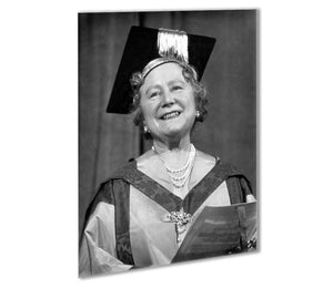 The Queen Mother with her honorary music degree Outdoor Metal Print - Canvas Art Rocks - 1