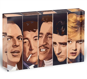 The Rat Pack Ocean's 11 Acrylic Block - Canvas Art Rocks - 1