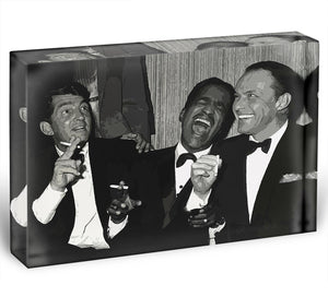 The Rat Pack Rocking With Laughter Acrylic Block - Canvas Art Rocks - 1