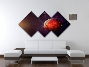 The Red Planet Mars 4 Square Multi Panel Canvas - Canvas Art Rocks - 3